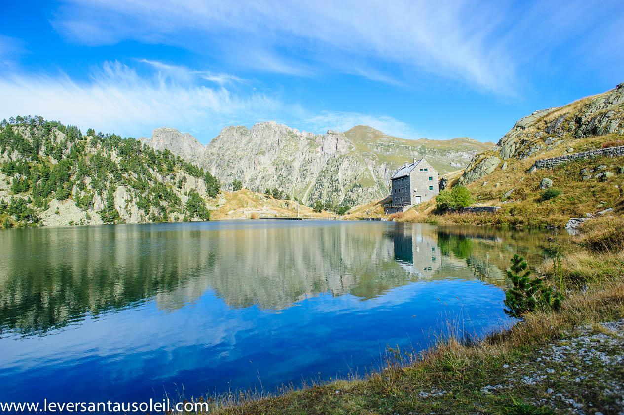 Lac et refuge de la Restanque