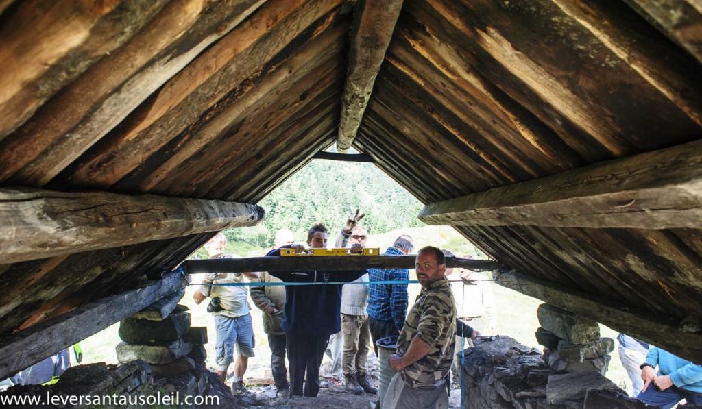 Cabane en fustes de Melles