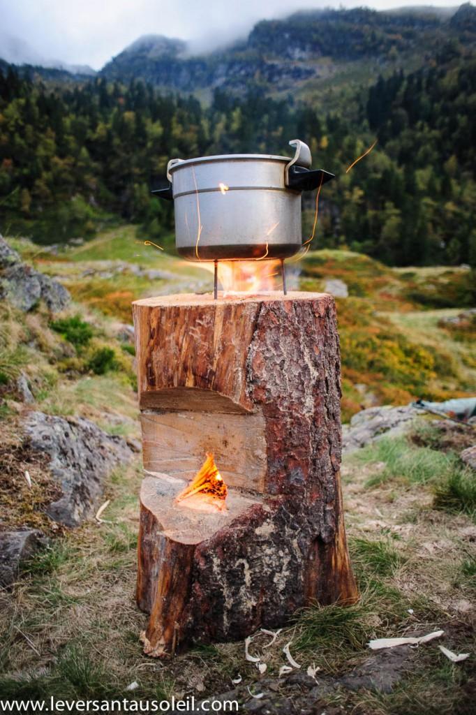 La fondue en préparation